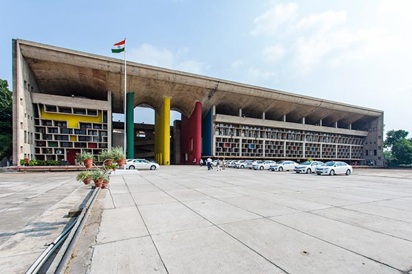 Capitol Complex, Chandigarh,  Front View